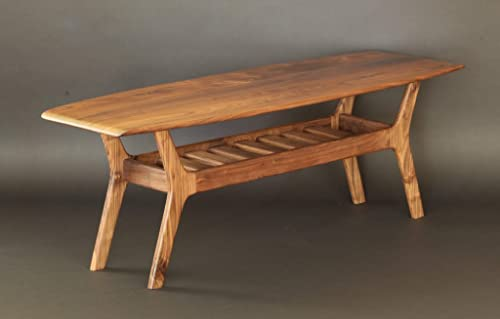 Noll Wide Body Danish Surfboard Coffee Table in Walnut