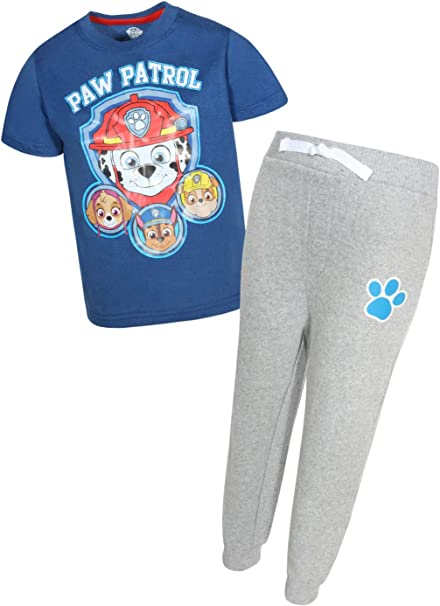 Nickelodeon Paw Patrol Boys T-Shirt Fleece Jogger 2 Piece Set Toddler//Little Kid
