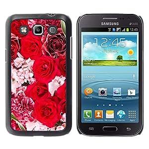El ramo de la boda de las novias - Metal de aluminio y de plástico duro Caja del teléfono - Negro - Samsung Galaxy Win I8550