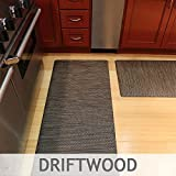 Luxe Therapeutic Floor Mats - Woven Vinyl is UV Stable - Greenguard Certified (Driftwood|2x3)