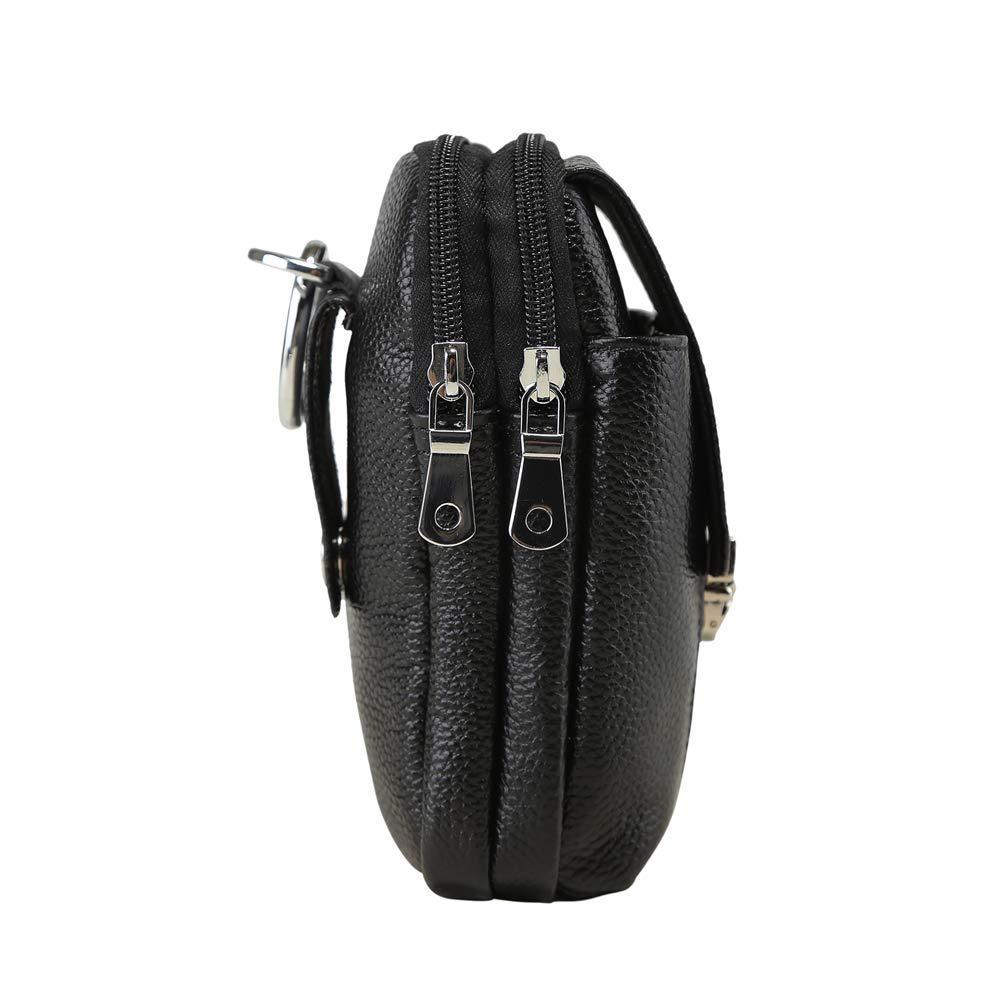 Genda 2 Archer Genuine Leather Mens Belt Waist Bag 6 Inch Phone Pouch