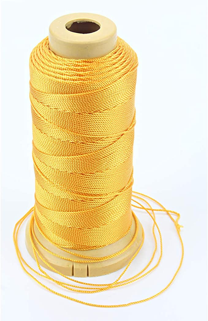 Bunt, 1.5mm-328 feet Twisted Nylon Linie Schnur String Cord f/ür Gartenarbeit Marking DIY Projects Crafting Mauerwerk