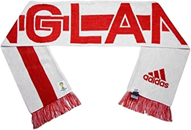 Nota electrodo crítico  Amazon.com: adidas England 2014 FIFA World Cup Authentic Jacquard Team  Scarf: Clothing