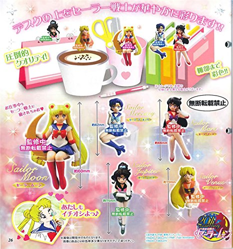 Amazon.com: Sailor Moon Tea Cup Decorations Figures Toys 5pcs/set Sailor Moon + Jupiter + Venus + Mercury + Mars: Toys & Games