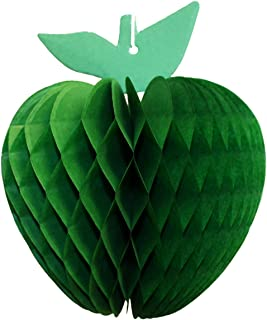 product image for 3-Pack 7 Inch Honeycomb Apple Decoration, Light Green