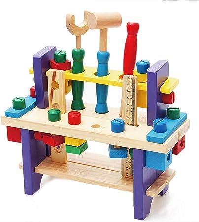 Blanketswarm mini banco da lavoro, giocattolo in legno