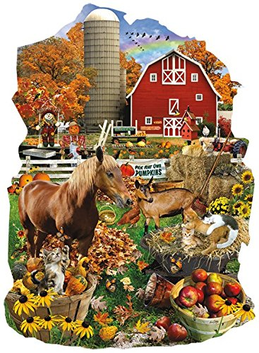 On the Farm Shaped 1000 Piece Jigsaw Puzzle by SunsOut