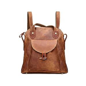 Plover's Bag Women's Vintage Leather Fashion Shoulder Bag Handbags Backpack Racksacks