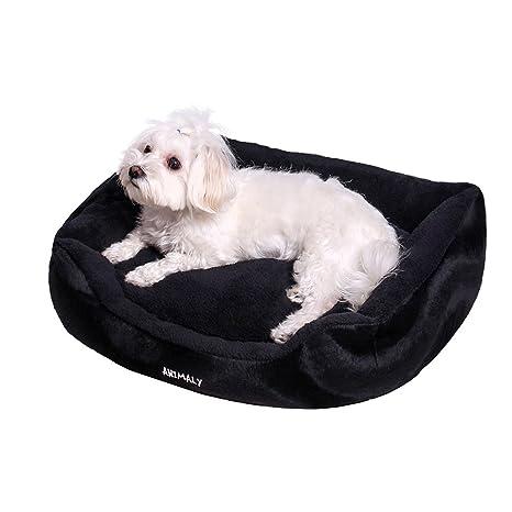 ANIMALY FLUFFY Cama para mascotas, cama para perros blanda, cama para gatos de peluche, ...