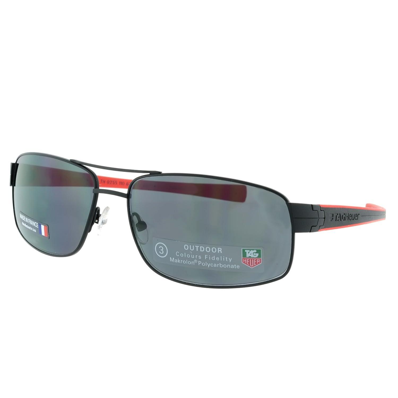 Amazon.com: Tag Heuer LRS – Gafas de sol, Color negro y rojo ...