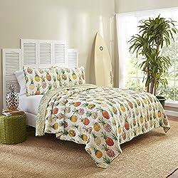 Vue 15971BEDDTWNSSH Kokomo 68-Inch by 86-Inch Reversible 2-Piece Twin Quilt Set, Sunshine