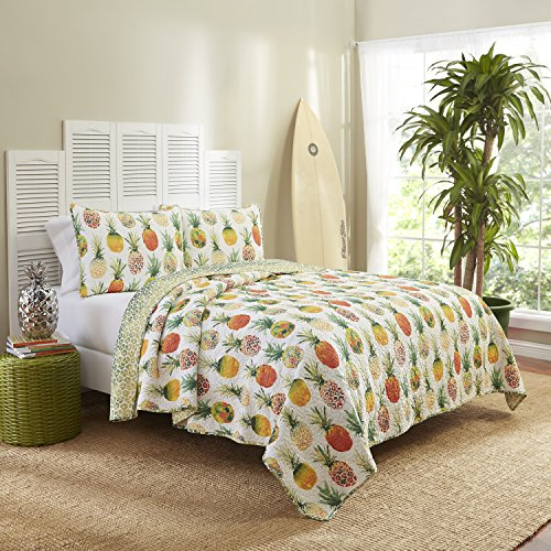 Vue 15971BEDDKNGSSH Kokomo 102-Inch by 90-Inch Reversible 3-Piece King Quilt Set, Sunshine