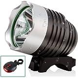 SXCtech™ - Water Resistant Rechargeable Super Bright Bike Light 1800 Lumen CREE LED Bike Headlight CREE LED Headlamp plus FREE LASER LED TAILLIGHT