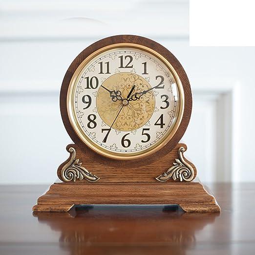 Europeo sólido madera reloj relojes antiguos de salón reloj de ...