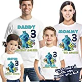 Monsters Inc Birthday Shirt, Monster inc shirt, Sully and Mike Shirt, Birthday Shirt, Boys Birthday Shirt, Custom Shirt, Monster Inc party