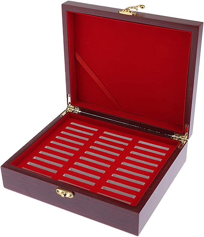 Wood Coin Display Boxes For Individual Coins