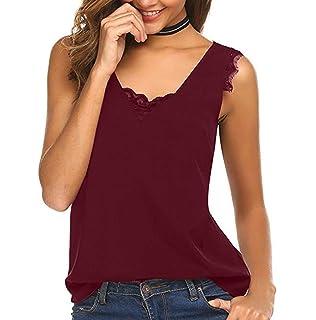 Chemise Femmes Dames /ét/é T-Shirt Mousseline De Soie /à Manches Courtes Chic L/âche Solide Tops Blouse Casual Haut LONUPAZZ