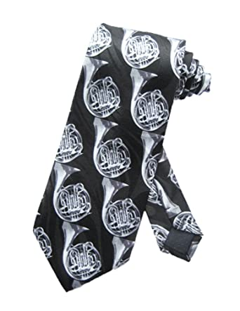 Parquet Hombres Trompa Instrumento Musical corbata - Negro - Talla ...
