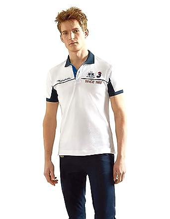 La Martina Hombres Camisa de Polo de Washington Slim Fit Blanco XL ...