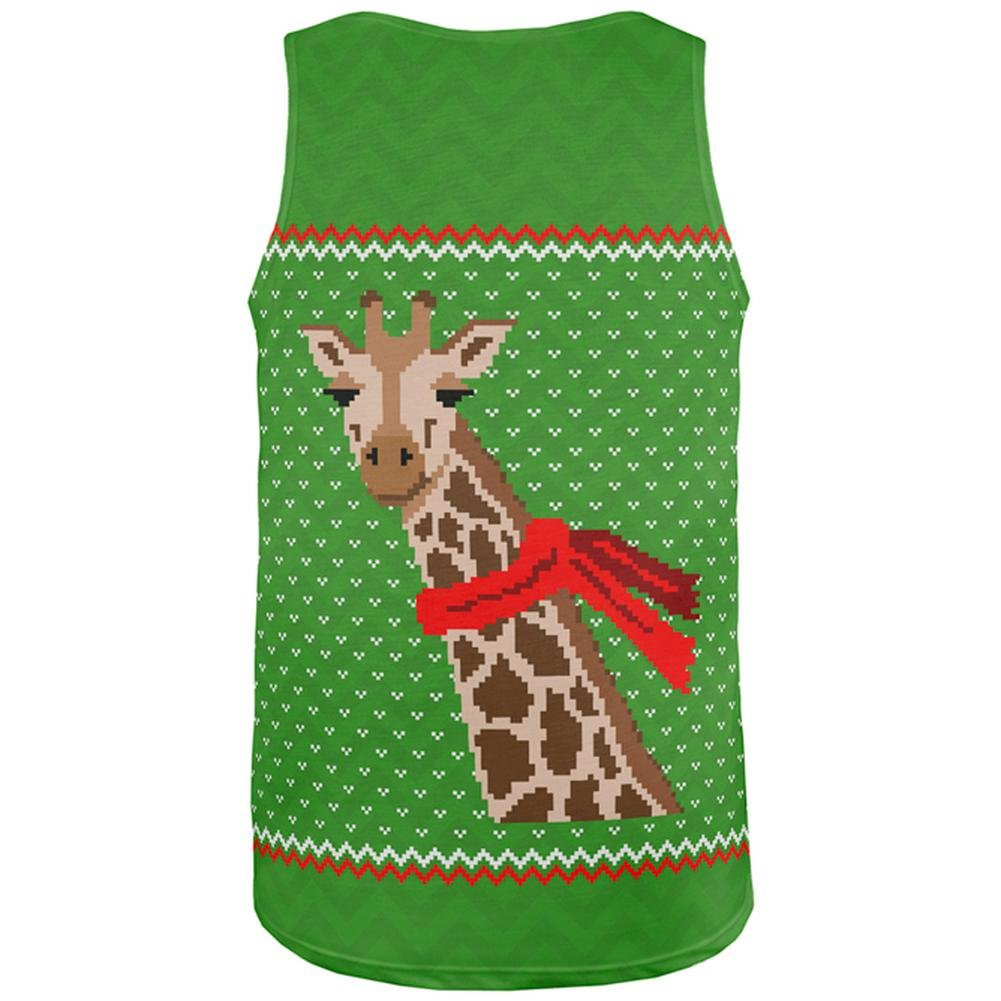 Big Giraffe Scarf Ugly Christmas Sweater Toddler Long Sleeve T Shirt