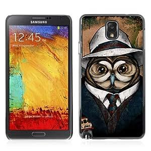 YOYOSHOP [Cool Owl Detective] Samsung Galaxy Note 3 Case