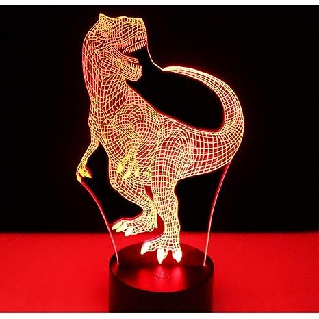 sakj-d 3D Luces De La Noche Del Led Feliz Dinosaurio ...