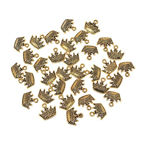 Homeford Small Crown Metal Charms, 3/4-Inch, 36-Count (Princess Gold Crown Charm)