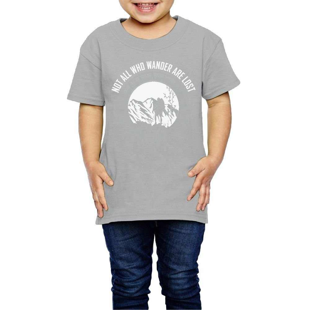 Yishuo Kid Hiking Wander. Classic Travel T-Shirts Short Sleeve Gray 3 Toddler