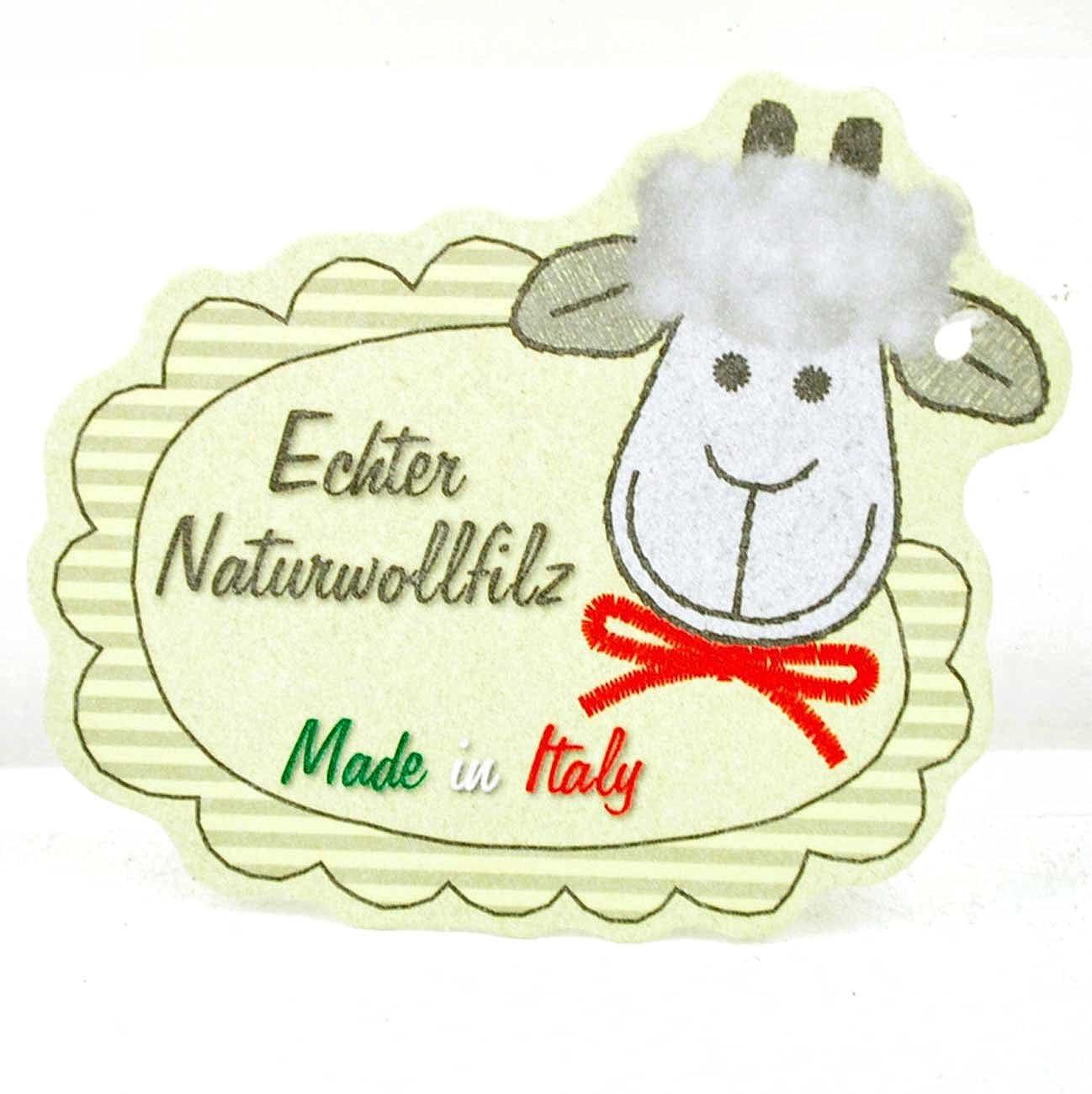 Tofee Damen Hausschuhe, Almrehsi 45029 2 Naturwollfilz grau