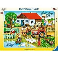 Ravensburger Bçer Puzzle, WasGehortWohin, 15 Parça