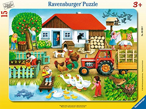 Ravensburger 06020 - Was gehört wohin? Ravensburger Spielverlag Tiere Kinderpuzzles Kinderpuzzles / Rahmenpuzzles