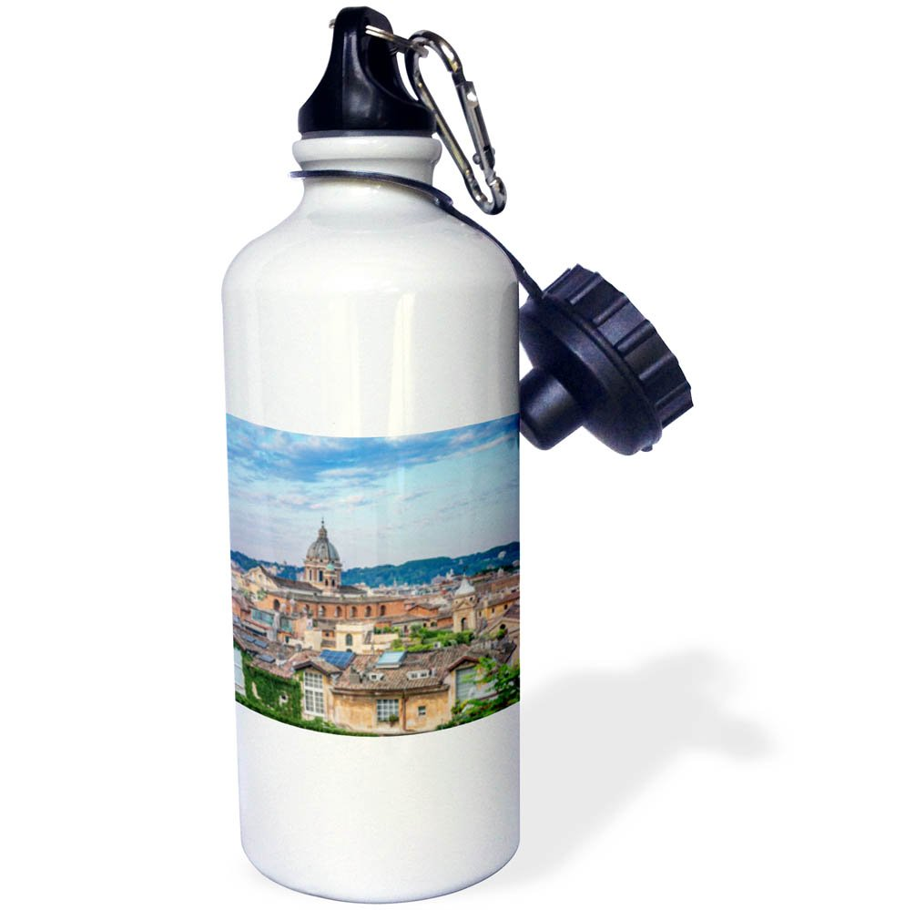 3dRose Danita Delimont - Cities - Italy, Rome, Cityscape at sunrise - 21 oz Sports Water Bottle (wb_277651_1) by 3dRose