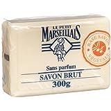 Le Petit Marseillais Savon Brut - French Marseille Soap Bar Unscented 10.5 oz