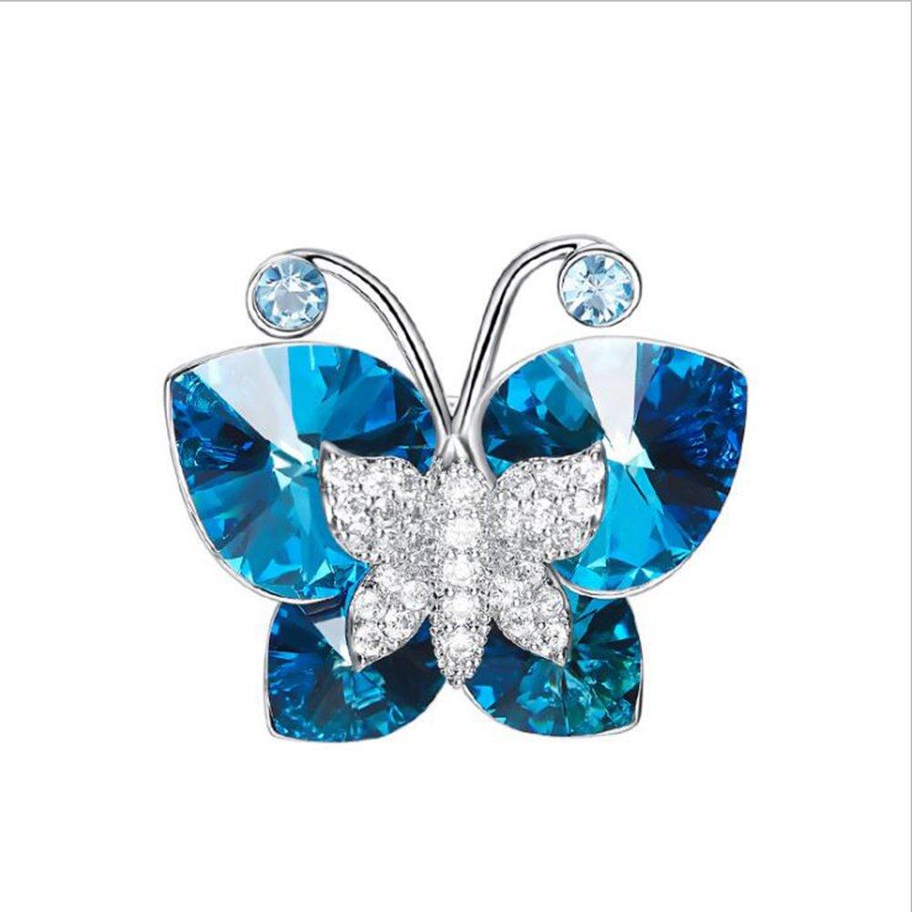 Brooch Pin Butterfly Crystal Rhinestones Party Girl Fashion Style Brooch Crystal by Fujin