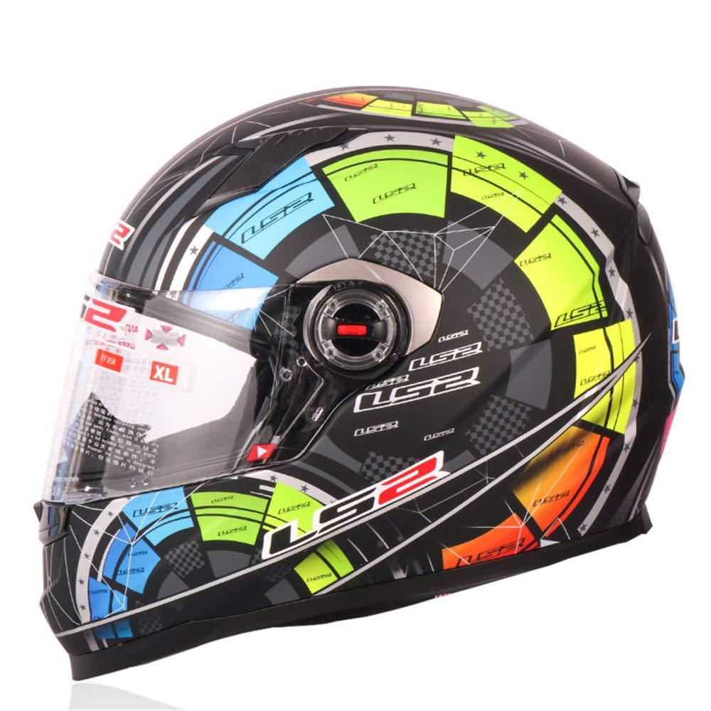 LIDMOTO Motorradhelme für Erwachsene Full Face hochwertige Abnehmbare