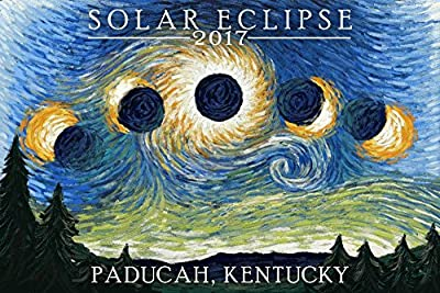 Paducah, Kentucky - Solar Eclipse 2017 - Starry Night