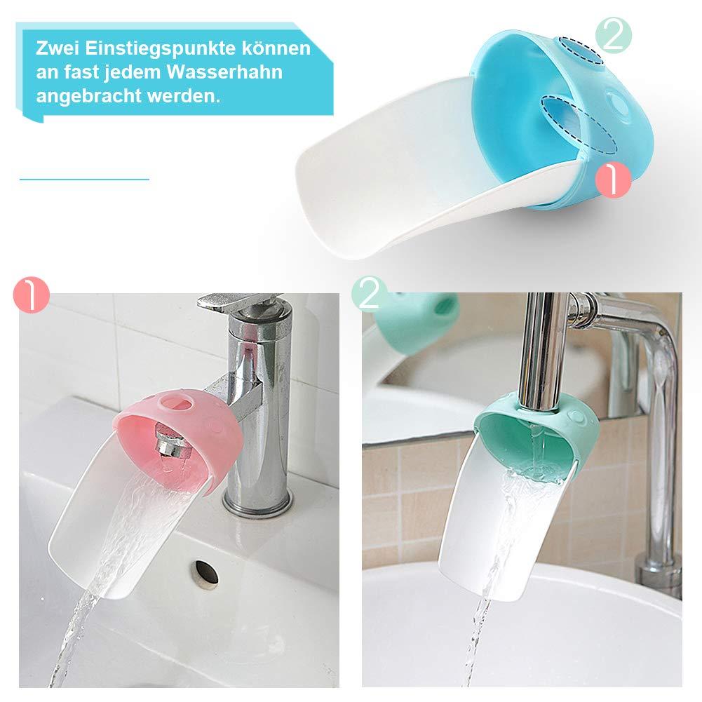 Wasserhahn Anzapfung Extender Waschtischarmatur fuer Kinder Baby Hande wnde w 1X