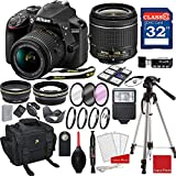 Nikon D3400 DX-format Digital SLR w/AF-P DX NIKKOR 18-55mm f/3.5-5.6G VR Lens + 3pc Filter Kit + Professional Accessory Bundle