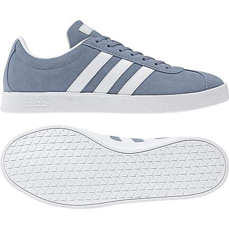 Adidas VL Court 2.0, Zapatillas de Deporte para Mujer, Gris (Grinat/Ftwbla