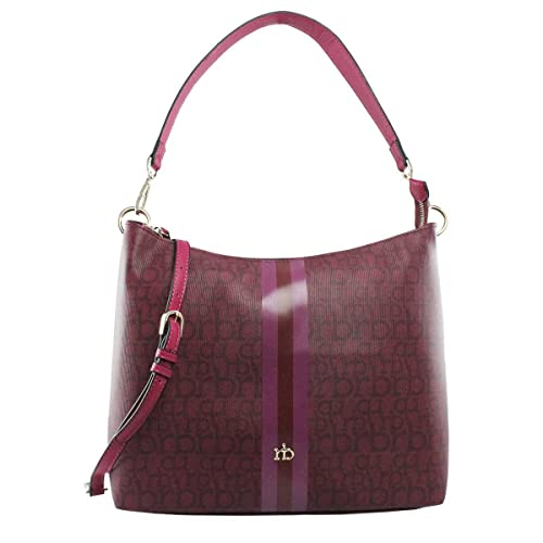 Rocco Barocco BORSA DONNA ROCCOBAROCCO RB HOBO BAG BROCH PRUGNA 217  Amazon. it  Scarpe e borse 5243ed98527