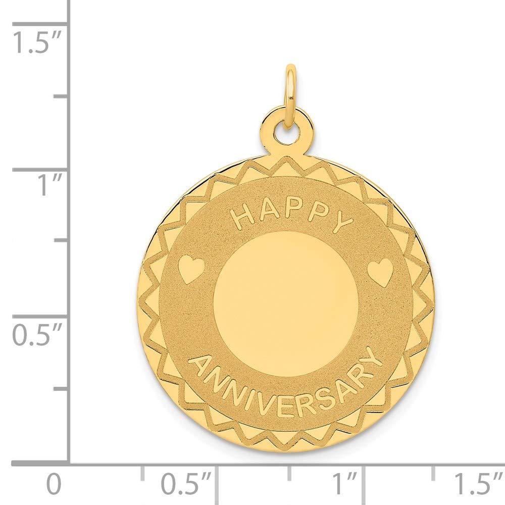 14k Happy Anniversary Charm 14 kt Yellow Gold