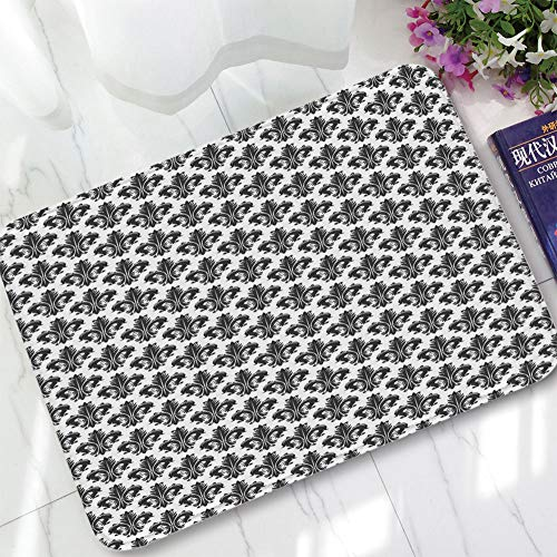 TecBillion Ultra-Soft Mat,Fleur De Lis,for Kitchen Living Room,15.75