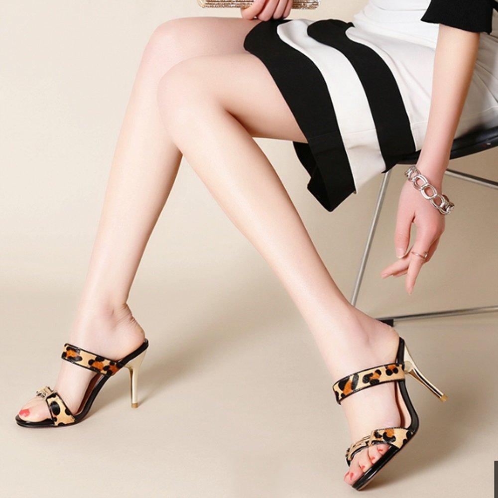Confortevole Pantofole delle signore di estate portano i pistoni high-heeled fine Adatti il ??piede esposto fine high-heeled con i pattini sexy Pistoni esterni del frigorifero 2 colori facoltativi) formato facoltati B c21a2d