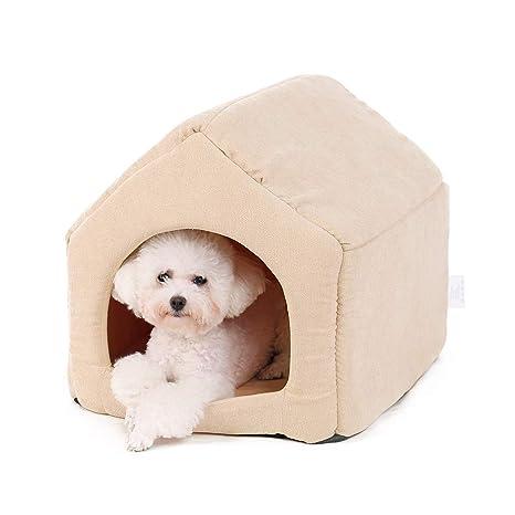 Ohana - Caseta Cuadrada 2 en 1 para Perro, Interior con ...