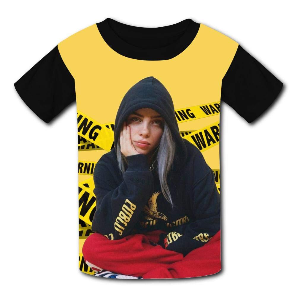 MOEYBOR Billie-Eilish Poster T-Shirts,Fashion Summer Tee for Kids//Teen//Boys//Girls