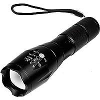 Portable Handheld Light Camping Flashlight Ultra Bright Handheld LED Flashlight with Adjustable Focus and 5 Light Modes