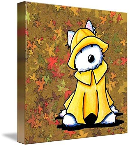 Imagekind Wall Art Print Entitled PNW Autumn Westie by Kim Niles | 11 x 11