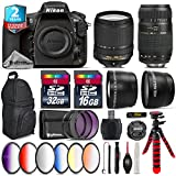 Holiday Saving Bundle for D810 DSLR Camera + 18-140mm VR Lens + Tamron 70-300mm Di LD Lens + 2.2x Telephoto Lens + 0.43x Wide Angle Lens + 6PC Graduated Color Filer Set - International Version