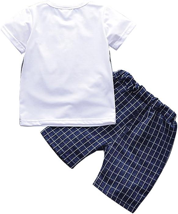 e11089fd6f95 Qlan Baby Boy vestiti abiti Sets bambini Baby Boy Abbigliamento Gentleman  Suit Top e Plaid pantalone corto vestito