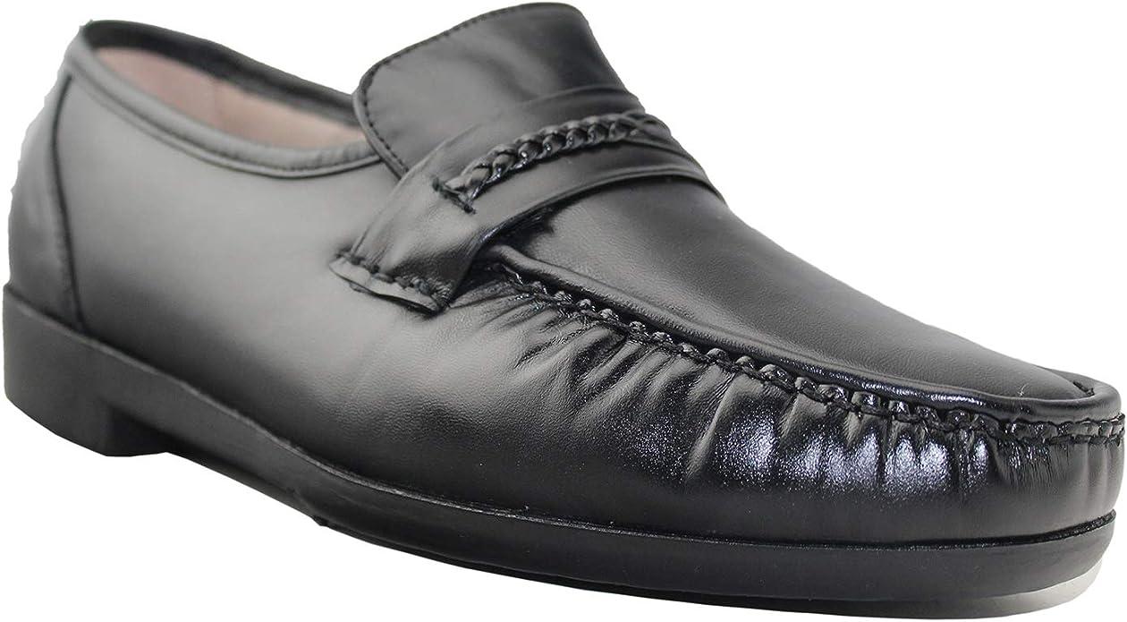 Amazon.com | Moc Toe Leather Shoes for